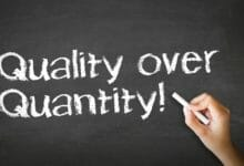 Photo of Establishing a quality over quantity mindset in our work