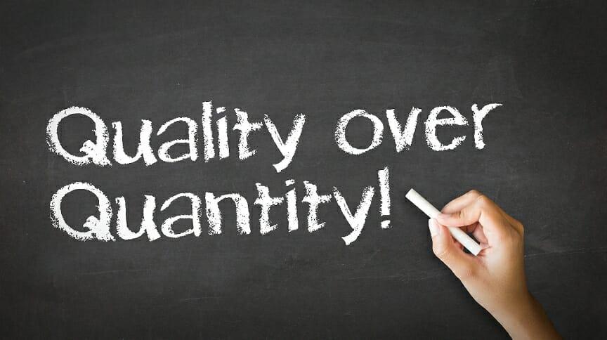 Quality over quantity - PMWorld 360